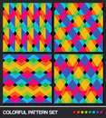 Colorful geometric pattern set Royalty Free Stock Images