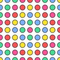 Colorful geometric seamless repetitive vector pattern
