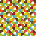 Colorful geometric seamless set abstract with shapes on white background Royalty Free Stock Photography