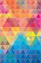 Colorful geometric triangles pattern jpeg.