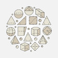 Colorful geometry and mathematics illustration