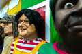 The colorful giant dolls of Olinda's carnival festival Royalty Free Stock Photo