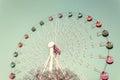 Colorful Giant ferris wheel Royalty Free Stock Photo