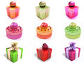 Colorful  gift boxes Royalty Free Stock Photos
