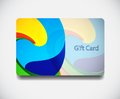 Colorful gift card Stock Photography