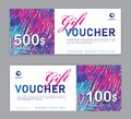colorful Gift Voucher template, Sale banner, Horizontal layout, discount cards, headers, website, trendy design