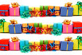 Colorful gifts Stock Photos