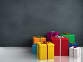 Colorful gifts a lot of bright for birthday or christmas Stock Photography