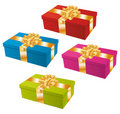 Colorful gifts set. Stock Images