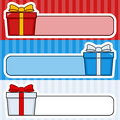 Colorful Gifts Stickers Collection Royalty Free Stock Photo