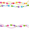Colorful glass beads decoration background. Royalty Free Stock Photo