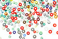 Colorful glass beads isolated on white background. Royalty Free Stock Photo