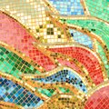 The Colorful glass mosaic art and abstract wall background Royalty Free Stock Photo