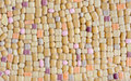 Colorful glass mosaic wall art background Royalty Free Stock Photo