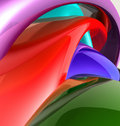 Colorful glossy abstract Royalty Free Stock Images