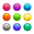Colorful glossy round buttons Royalty Free Stock Photo