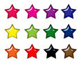 Colorful Glossy Star Icons Royalty Free Stock Images