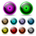 Colorful glow buttons Royalty Free Stock Photos