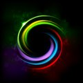Colorful Glowing CIrcle Royalty Free Stock Photo