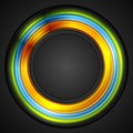Colorful glowing circle vector logo Royalty Free Stock Photo