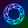 Colorful Glowing Rings -  eps10 abstract background art Royalty Free Stock Photo