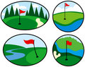 Colorful Golf Icons Stock Photo