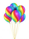 Colorful gradient balloons d render isolated and clipping path Royalty Free Stock Photos