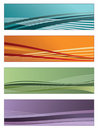 Colorful gradient banners Royalty Free Stock Photo