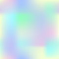 Colorful gradient mesh with yellow, pink, blue and green. Pale colored square background. Royalty Free Stock Photo