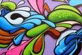 Colorful graffiti art Royalty Free Stock Photo