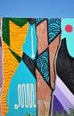 Colorful graffiti wall Royalty Free Stock Photo