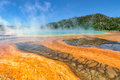 Colorful of grand prismatic spring in yellowstone wyoming usa Royalty Free Stock Photos