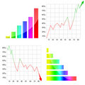 Colorful graph Royalty Free Stock Images