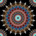 Colorful greek mandalas seamless pattern. Ornamental floral vector folk background. Modern abstract greek key meander round Royalty Free Stock Photo