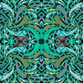 Colorful greek vector seamless pattern. Bright turquoise vector