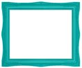 Colorful green picture frame modern plastic bright with antique styling isolated on white background Royalty Free Stock Photo