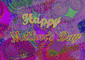 Colorful Green Texture Background Design. Happy Mother`s Day