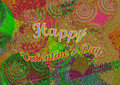 Colorful Green Texture Background Design. Valentine`s Day