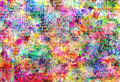 Colorful grunge art wall illustration, urban art wallpaper, background Royalty Free Stock Photo