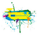 Colorful grunge banner with ink splashes Royalty Free Stock Image