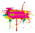 Colorful grunge banner with ink splashes Royalty Free Stock Images