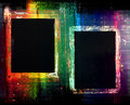 Colorful grunge frames background two on a very abstract Royalty Free Stock Photos