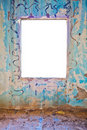 Colorful Grunge Wall and Window Royalty Free Stock Photo