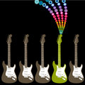 Colorful guitar illustration Royalty Free Stock Photography