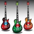 Colorful guitars Royalty Free Stock Photography