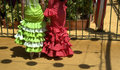 The colorful gypsy dresses of flamenco