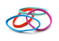 Colorful hair bands on white background Royalty Free Stock Photo