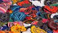 Colorful hair ties Royalty Free Stock Photo