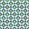 Colorful half aztec diamonds pattern