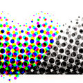 Colorful Halftone Circles Stock Photography